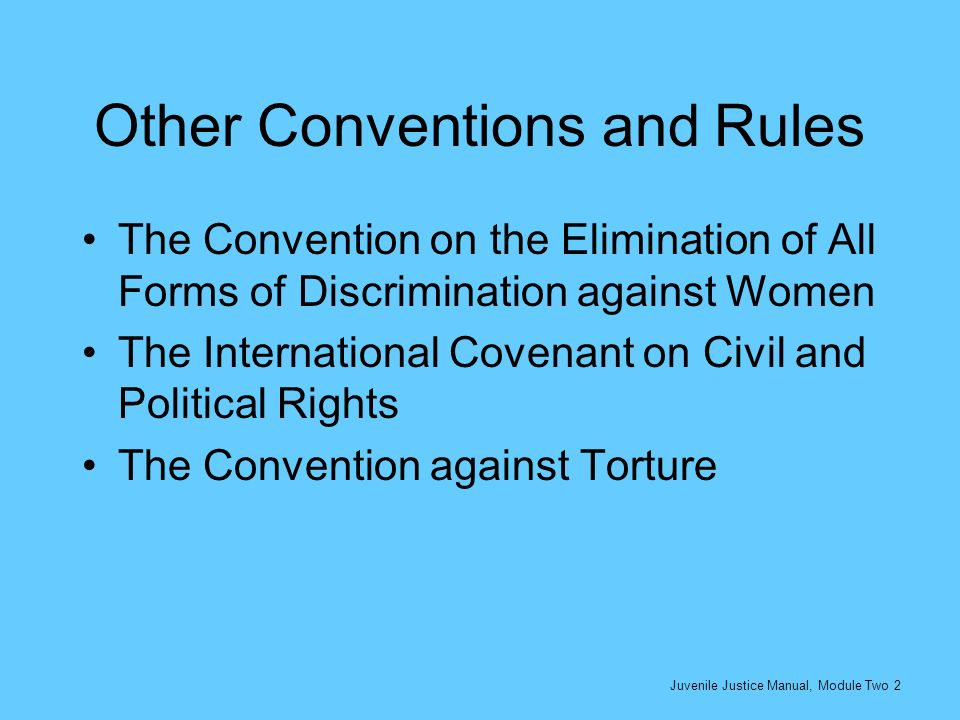 Other Conventions and Rules