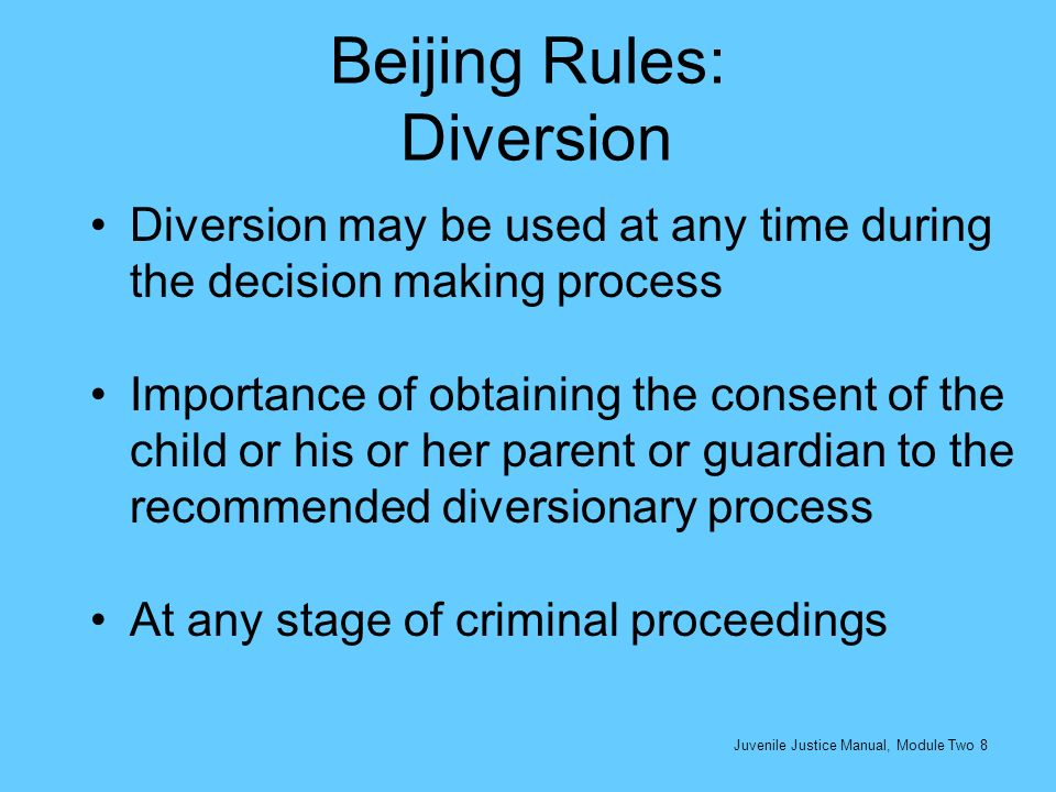 Beijing Rules: Diversion