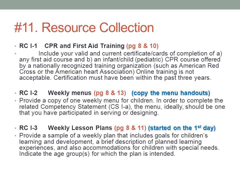 resource collection 5 for cda A professional portfolio that includes a resource collection, statements of competency and a professional philosophy  a child development associate (cda) is an.