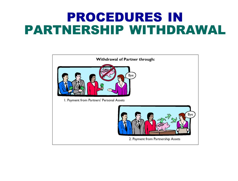 PROCEDURES IN PARTNERSHIP WITHDRAWAL