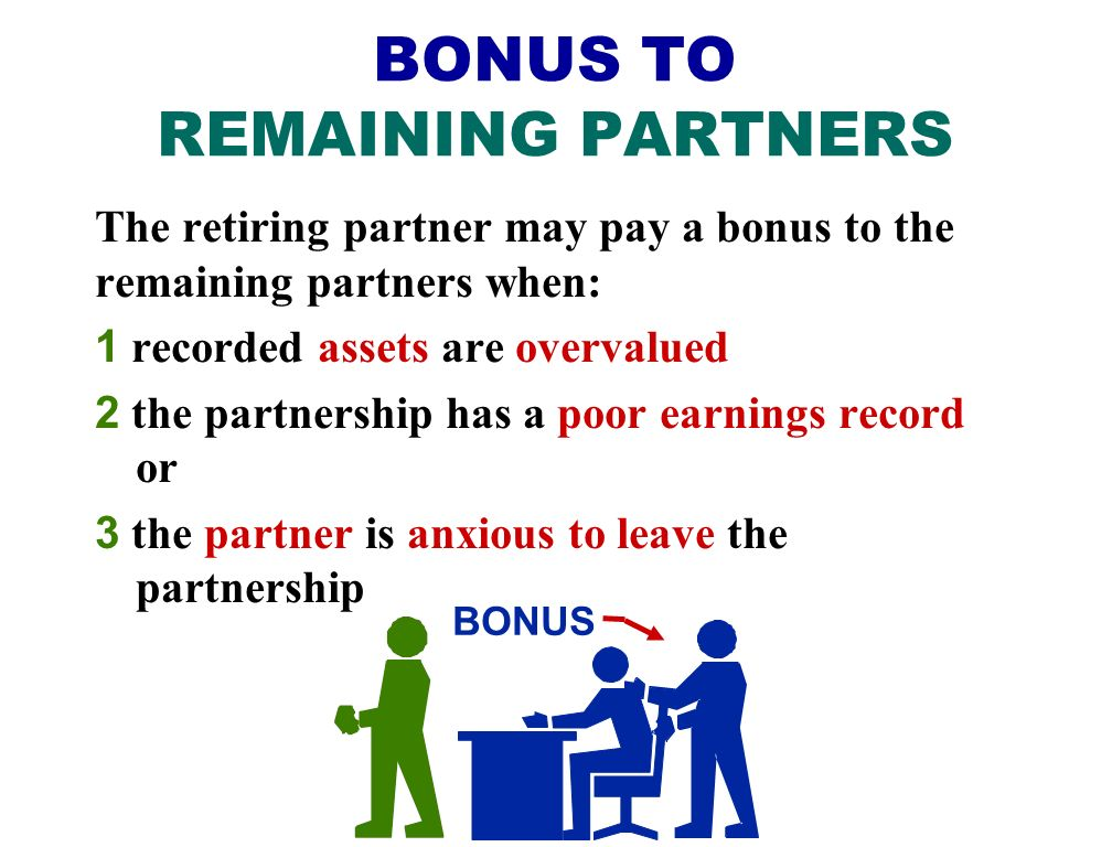 BONUS TO REMAINING PARTNERS