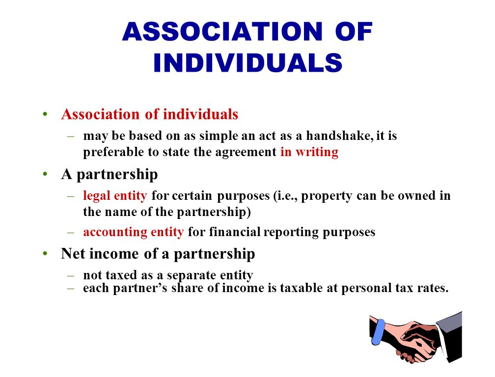 ASSOCIATION OF INDIVIDUALS