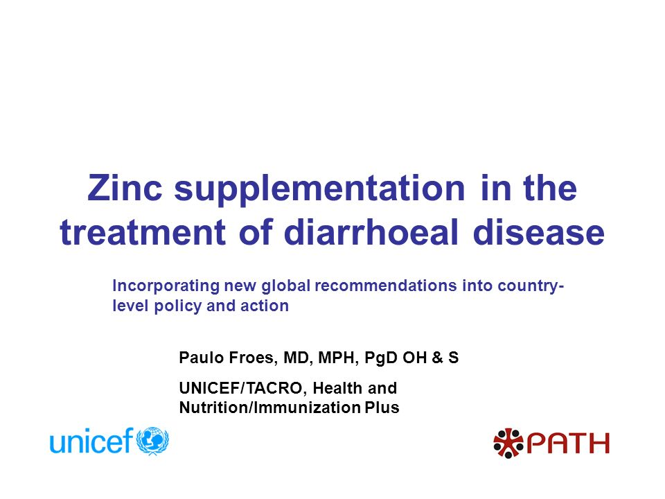 Zinc supplementation in the treatment of diarrhoeal disease