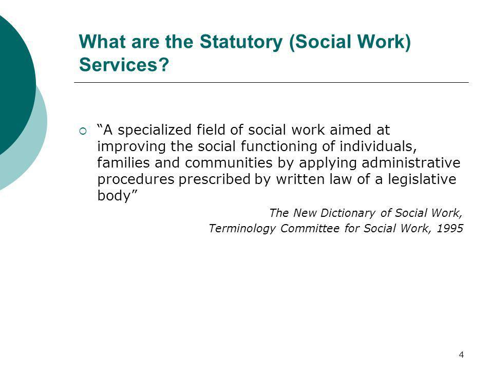 What are the Statutory (Social Work) Services