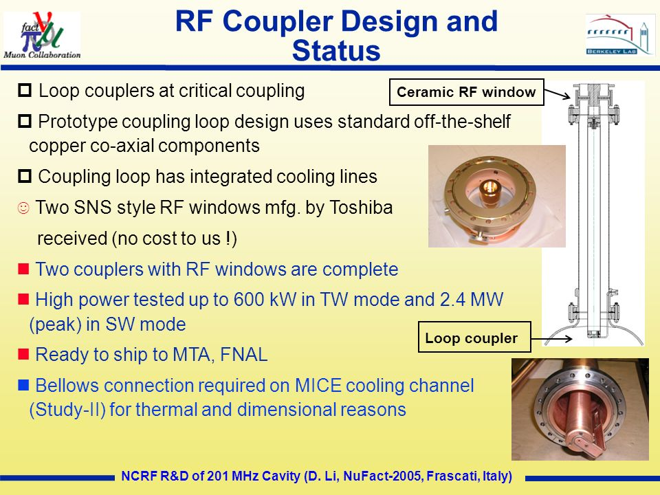 RF Coupler Design and Status