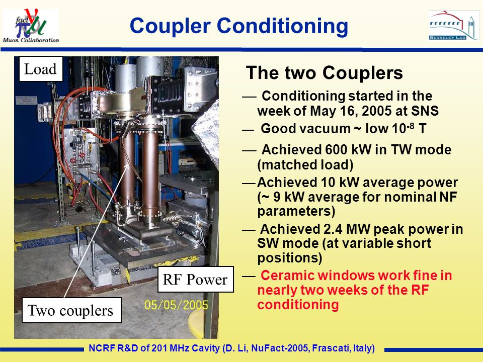 Coupler Conditioning Load