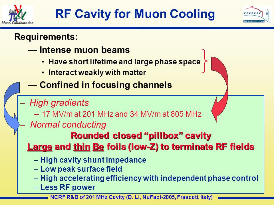 RF Cavity for Muon Cooling