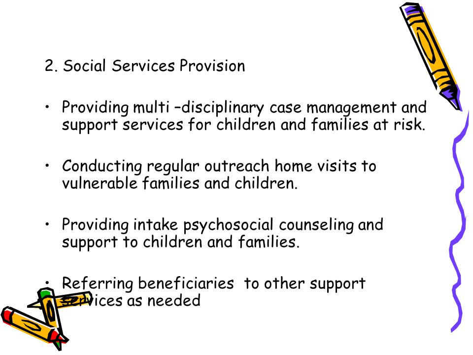 2. Social Services Provision