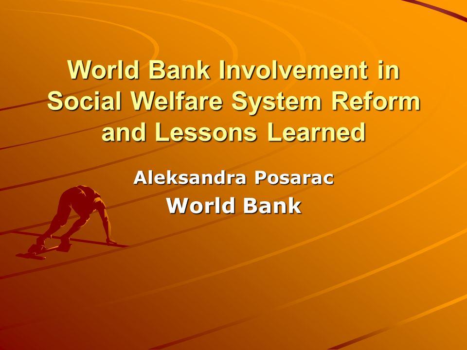 Aleksandra Posarac World Bank