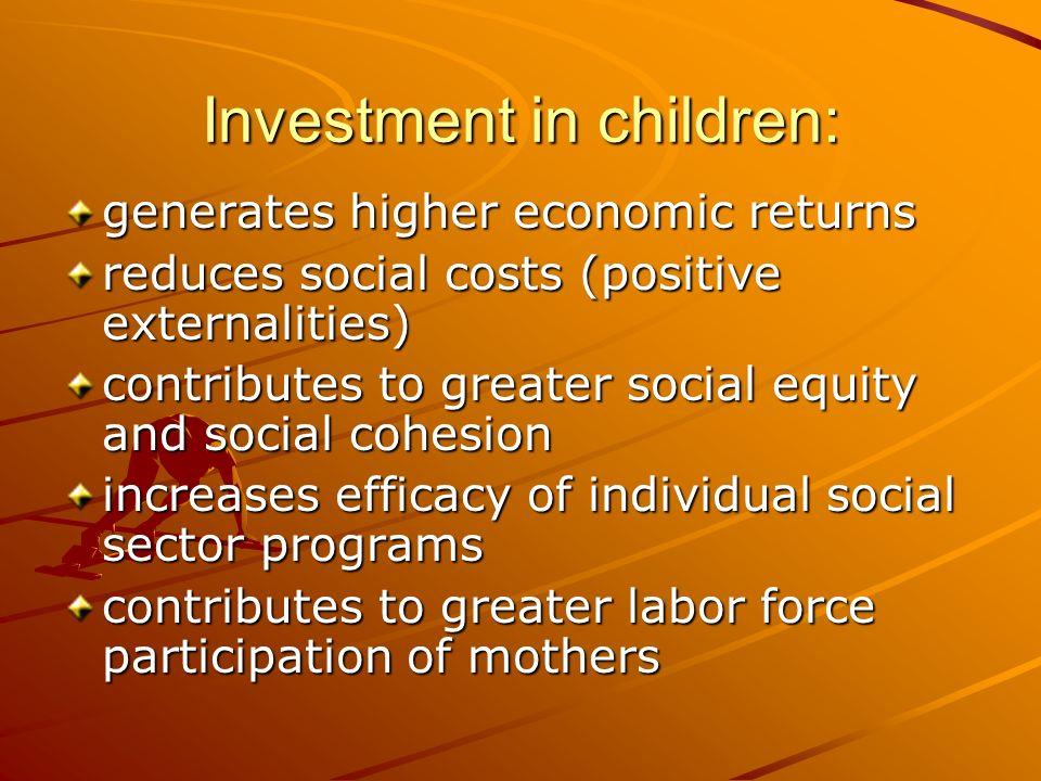 Investment in children: