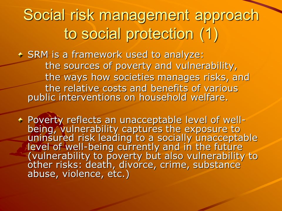 Social risk management approach to social protection (1)