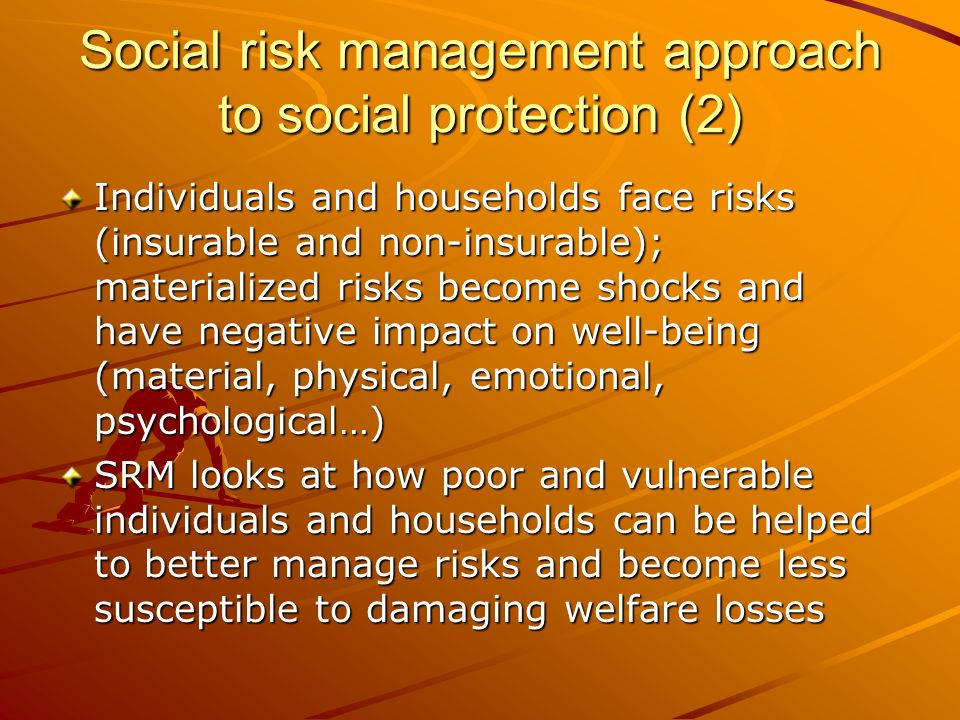 Social risk management approach to social protection (2)