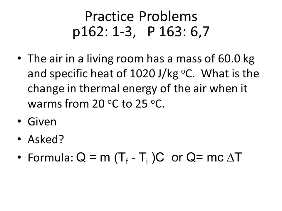Chapter 6 Thermal Energy ppt video online download – Specific Heat Practice Problems Worksheet