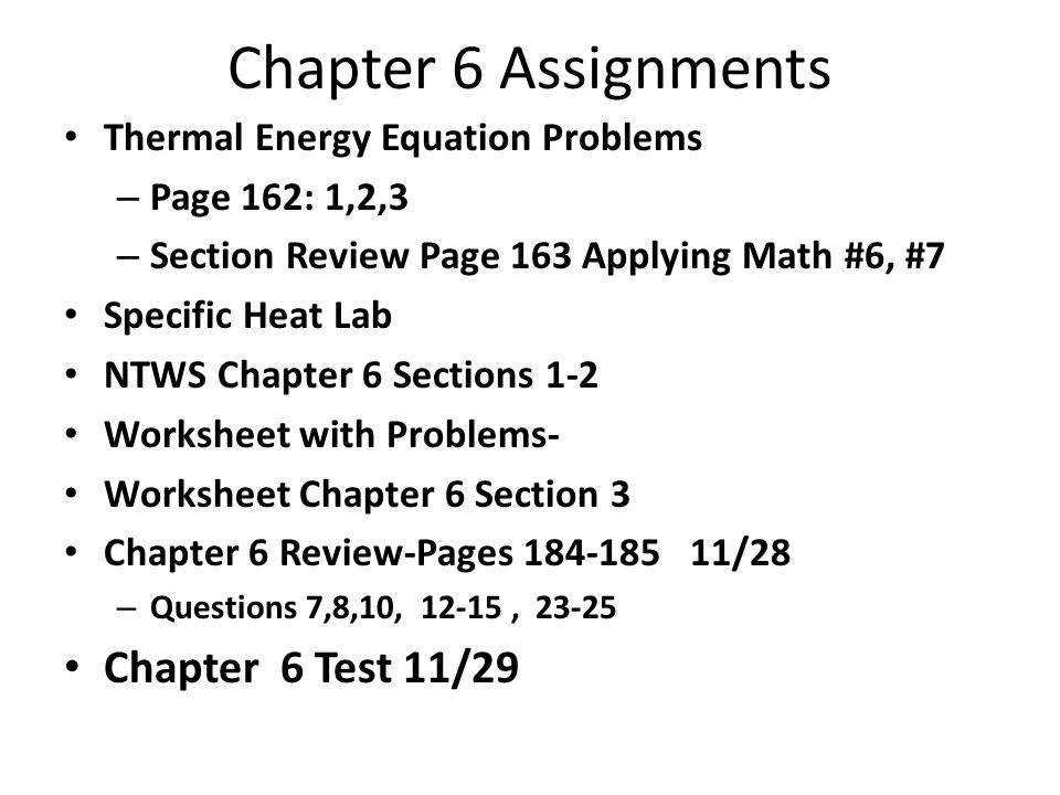 Chapter 6 Thermal Energy ppt download – Specific Heat Problems Worksheet