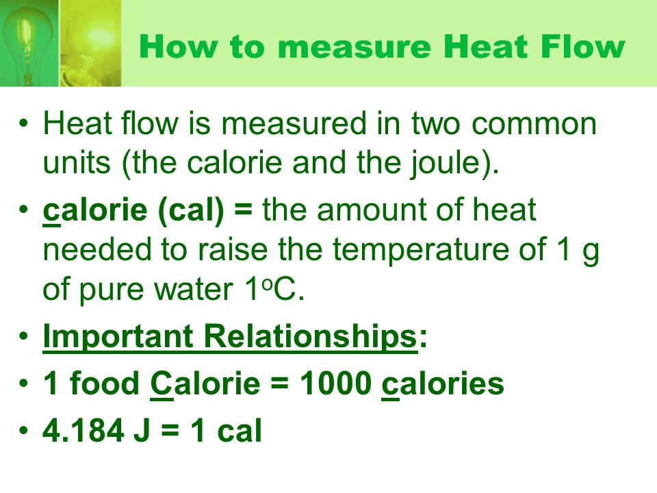 A research on the measurement of heat flux
