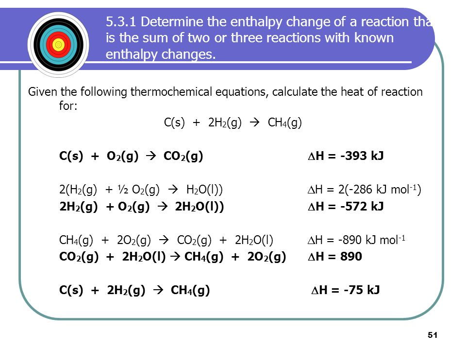 determination of the enthalpy of reaction We would like your organization to duplicate the experimental determination of the enthalpy reaction, calculate the enthalpy enthalpy change (hess.