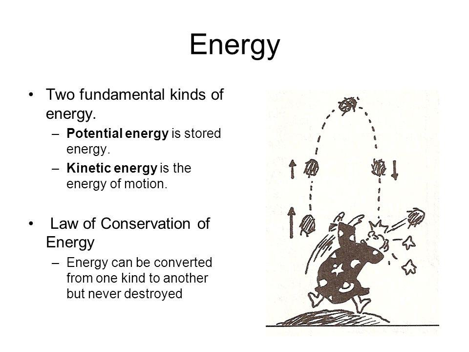 3 Energy Two fundamental kinds ...