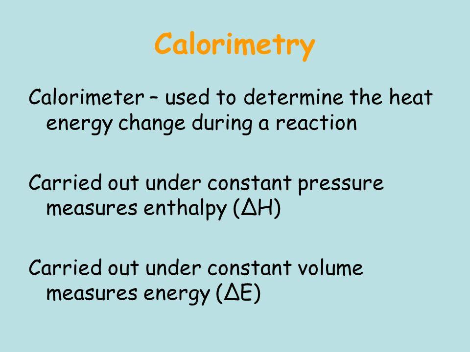 ice calorimeter determination of reaction enthalpy