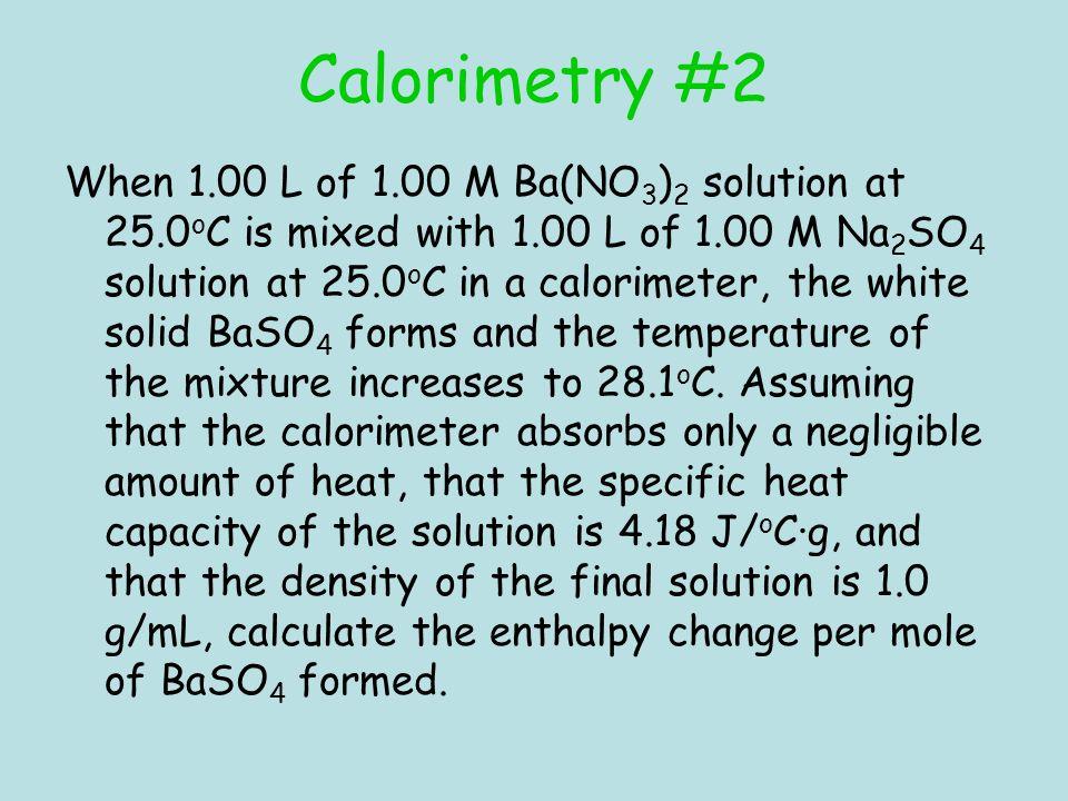 Calorimetry #2