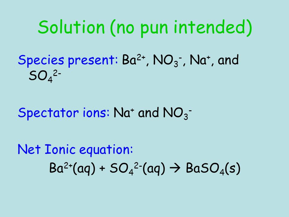 Solution (no pun intended)