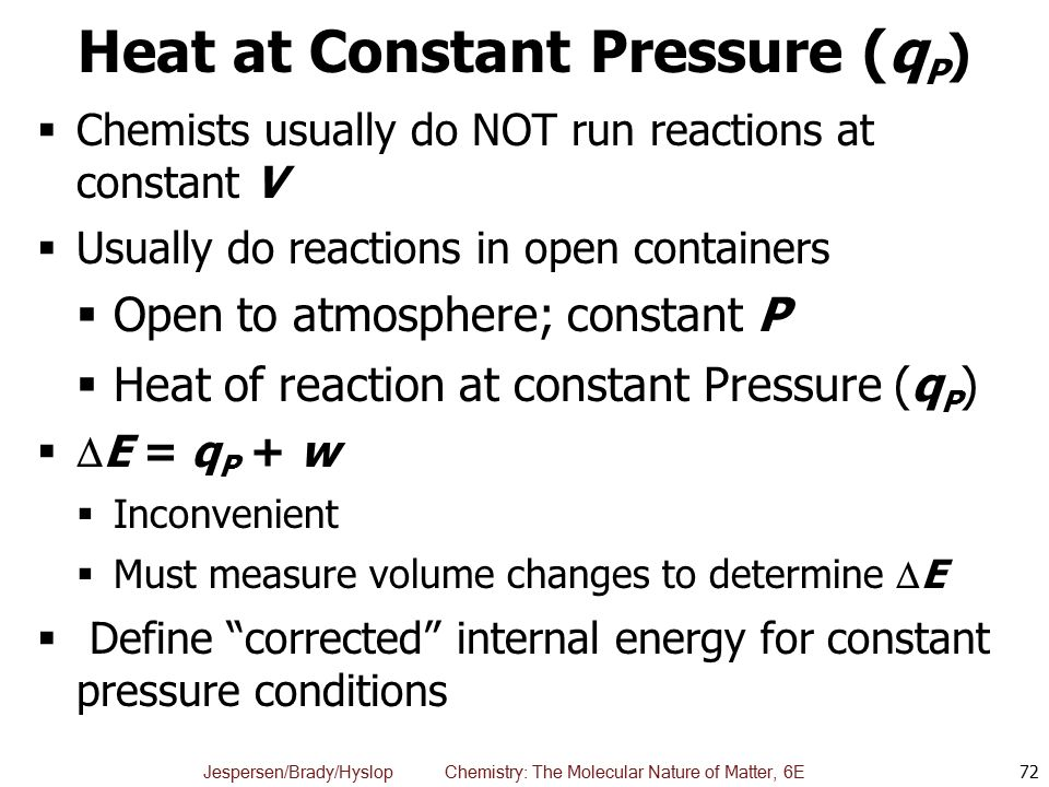 Heat at Constant Pressure (qP)