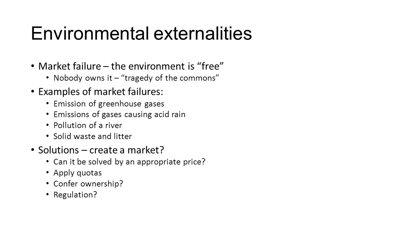 externalities pollution and global warming Accounting for externalities april 21,  effects of air pollution on health, buildings, crops, forests and global warming.