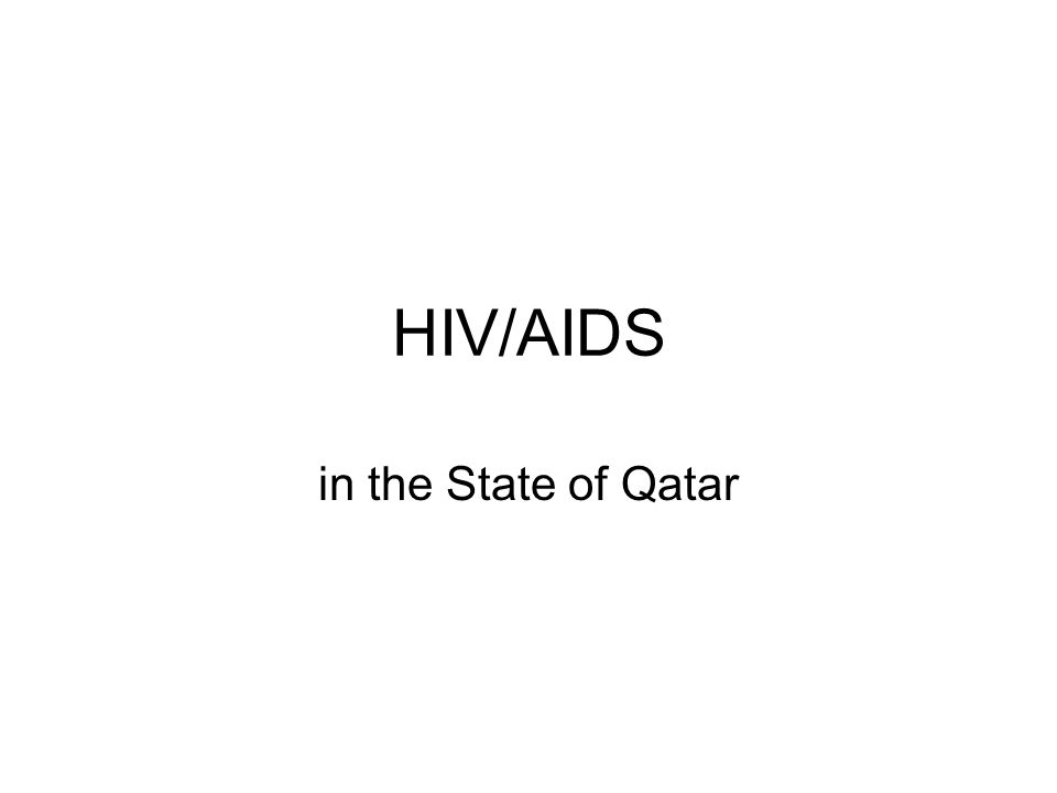 HIV/AIDS in the State of Qatar