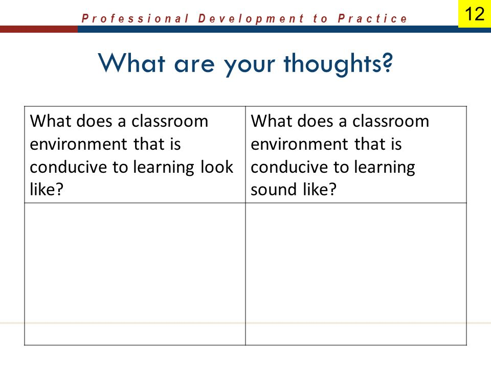 Strategies for Building a Productive and Positive Learning Environment