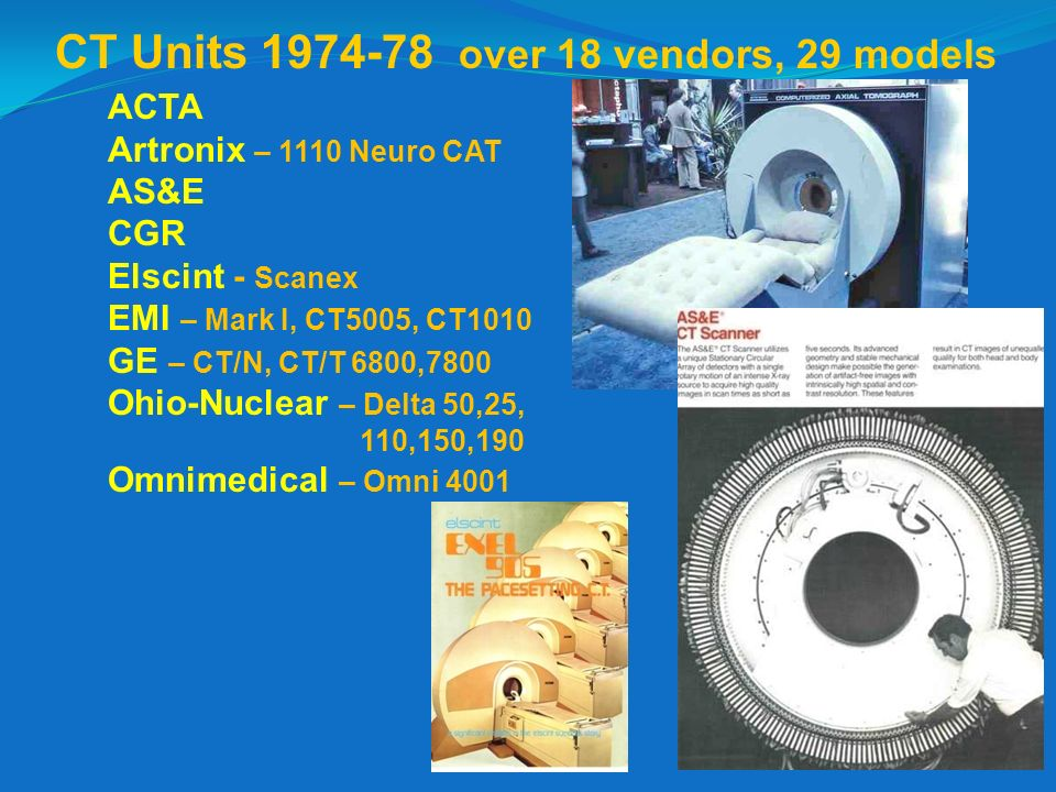 CT Units 1974-78 over 18 vendors, 29 models