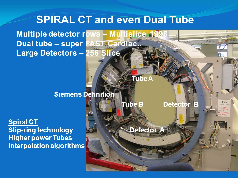 SPIRAL CT and even Dual Tube