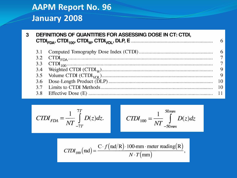 AAPM Report No. 96 January 2008