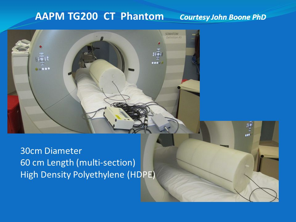 AAPM TG200 CT Phantom Courtesy John Boone PhD