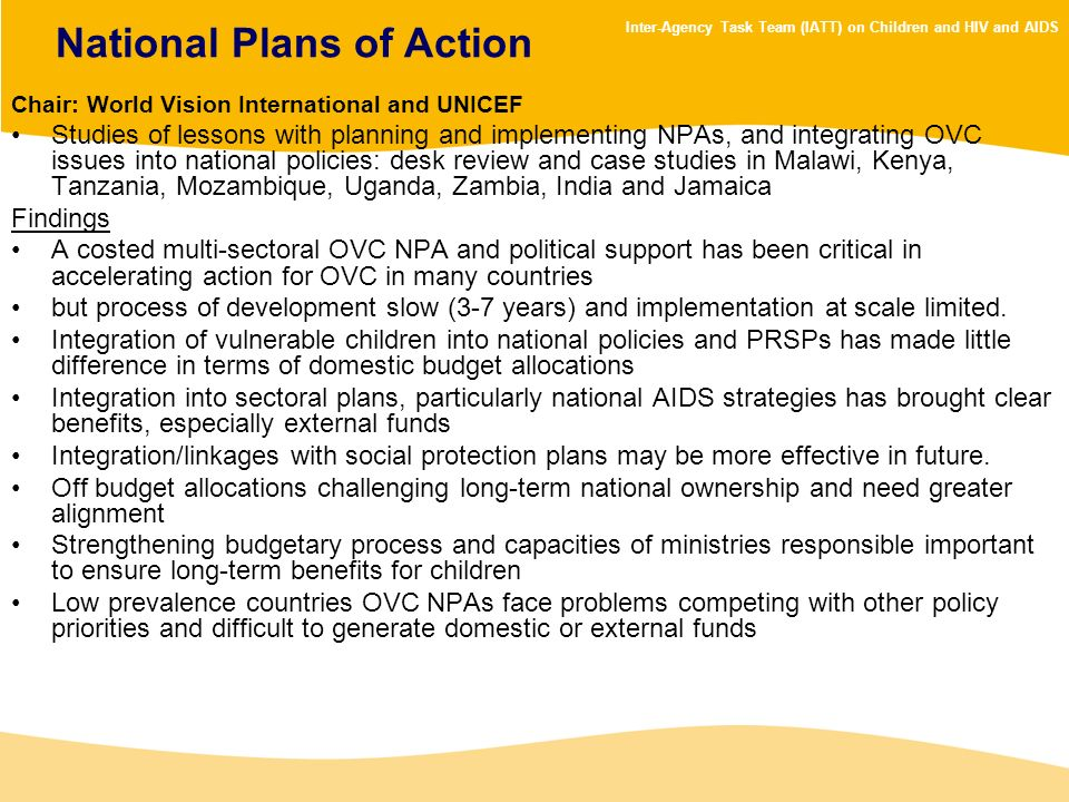 National Plans of Action