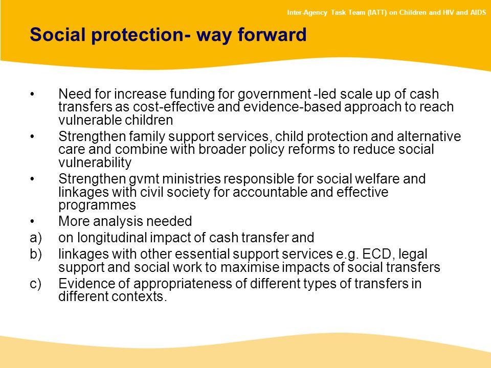 Social protection- way forward