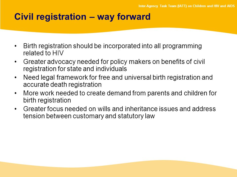 Civil registration – way forward