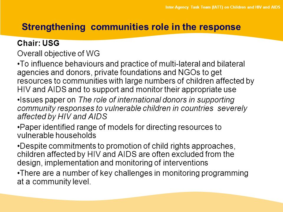 Strengthening communities role in the response