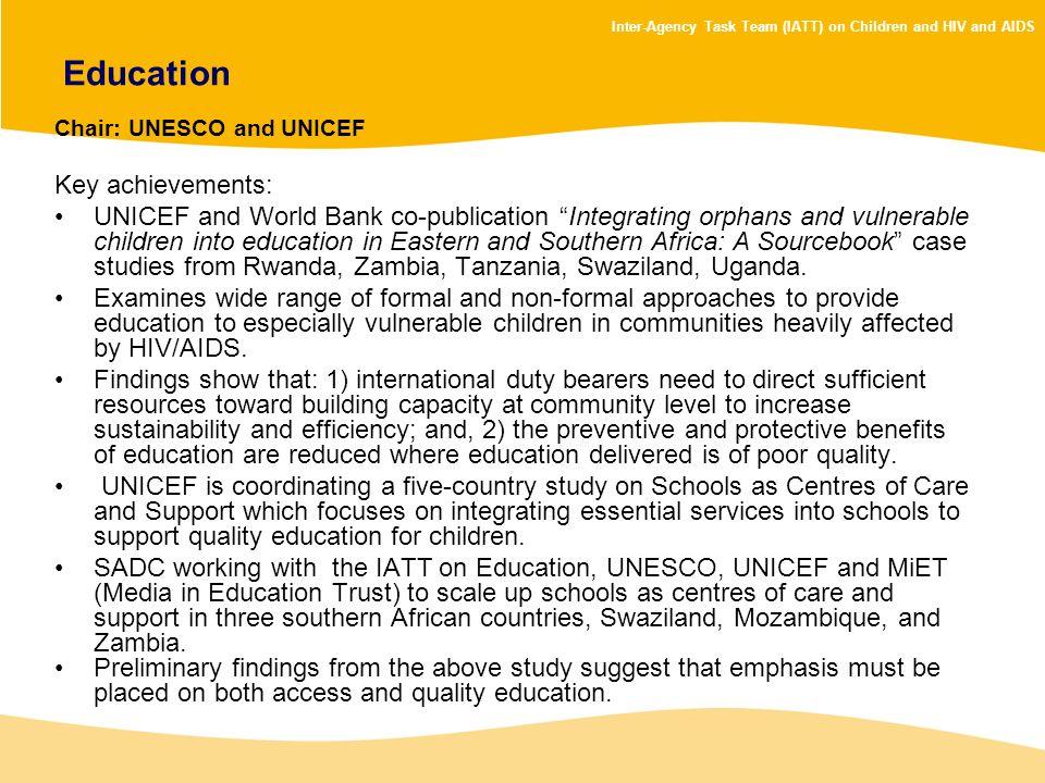 Education Key achievements: