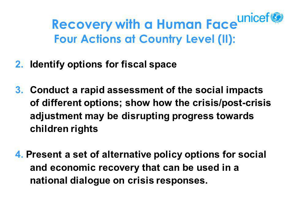 Recovery with a Human Face Four Actions at Country Level (II):