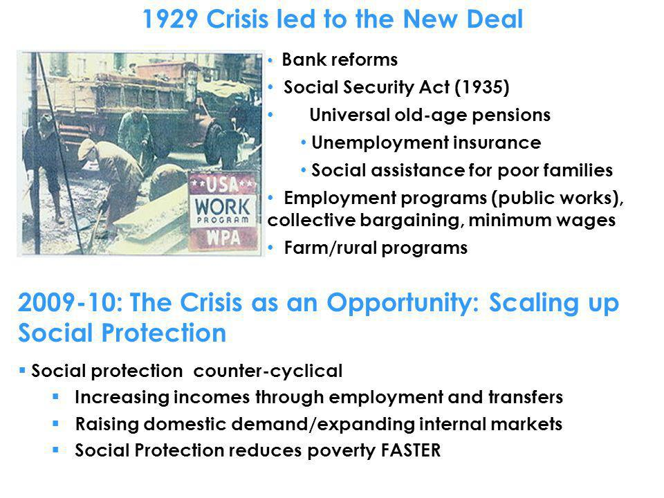 1929 Crisis led to the New Deal