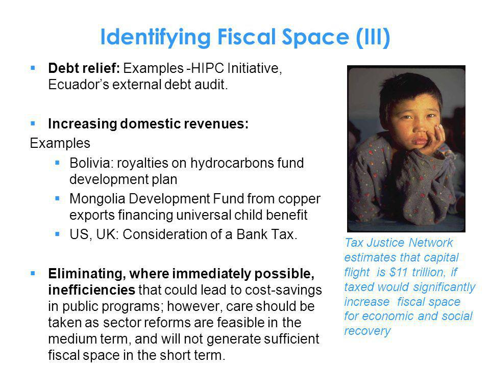 Identifying Fiscal Space (III)