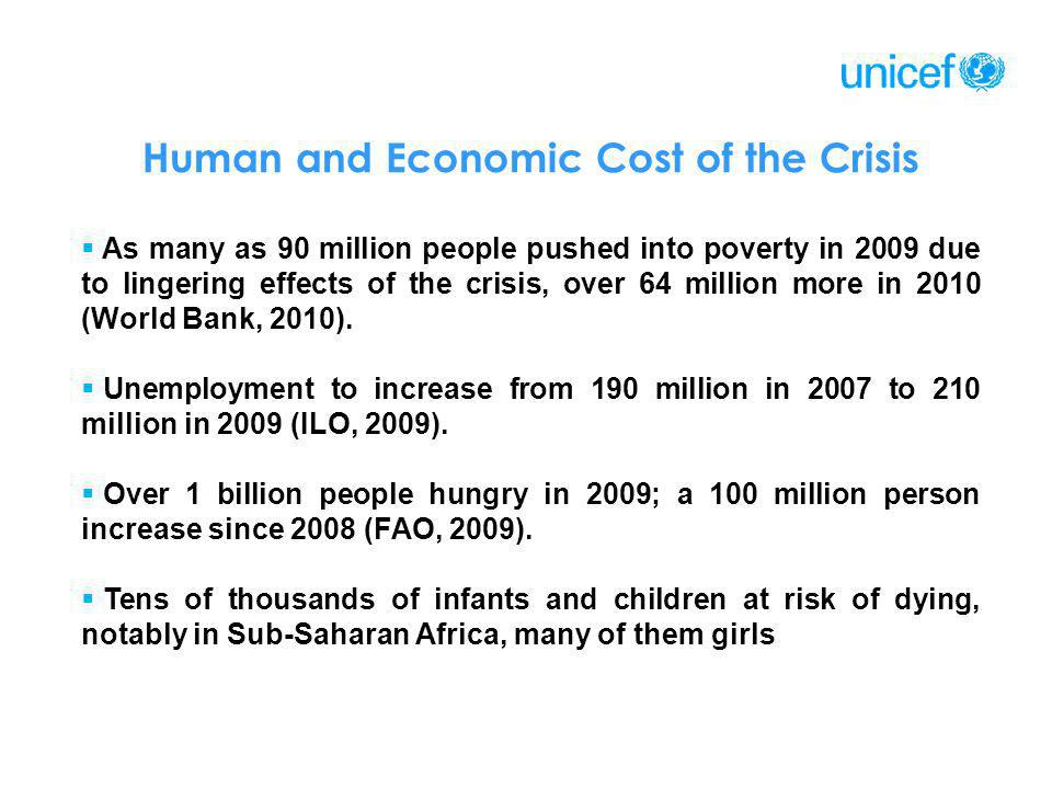 Human and Economic Cost of the Crisis