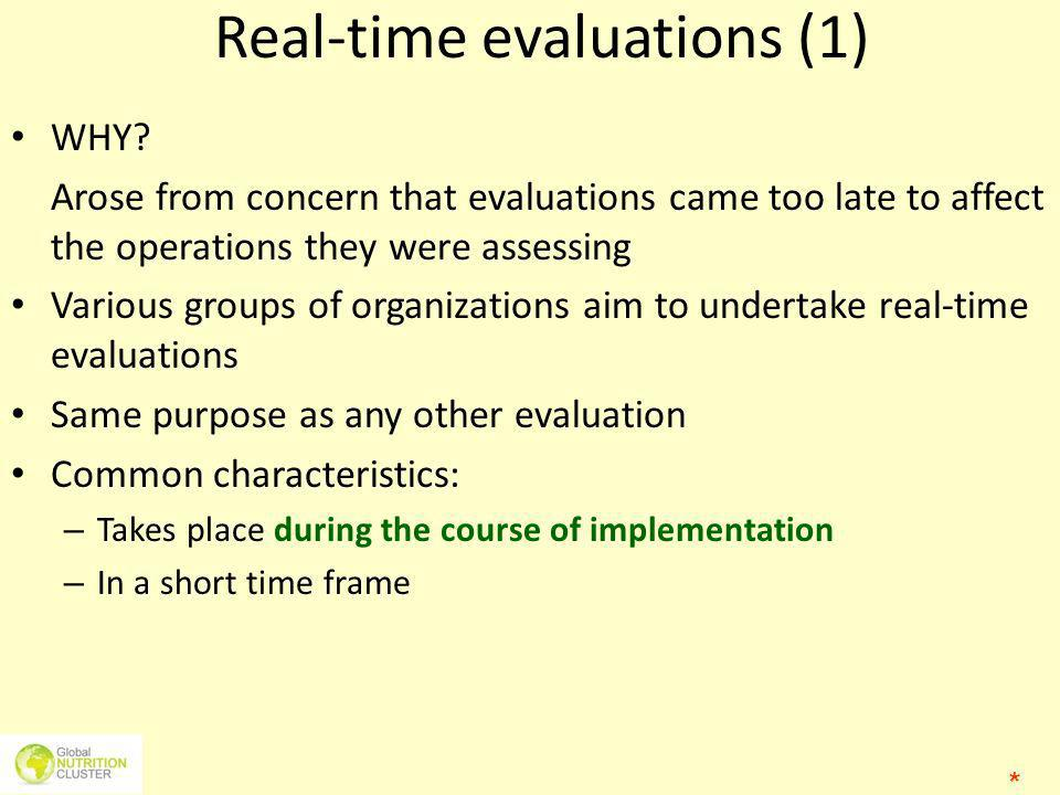 Real-time evaluations (1)