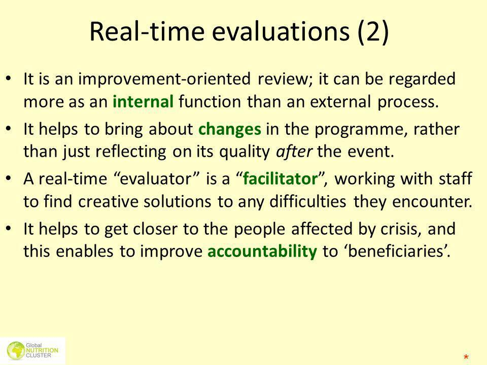 Real-time evaluations (2)