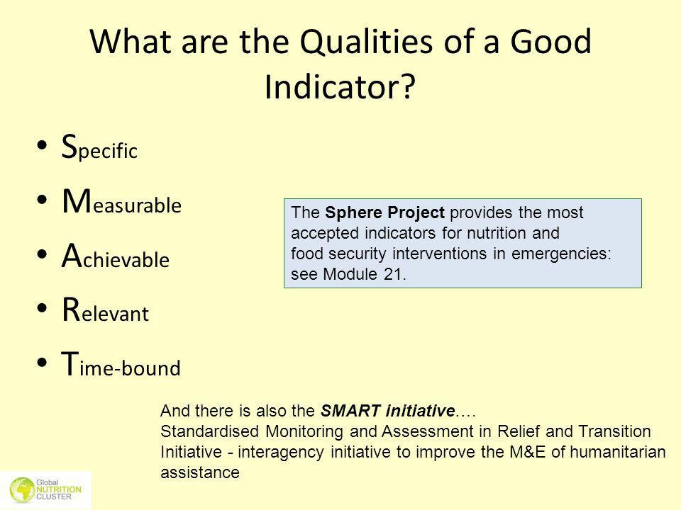 What are the Qualities of a Good Indicator
