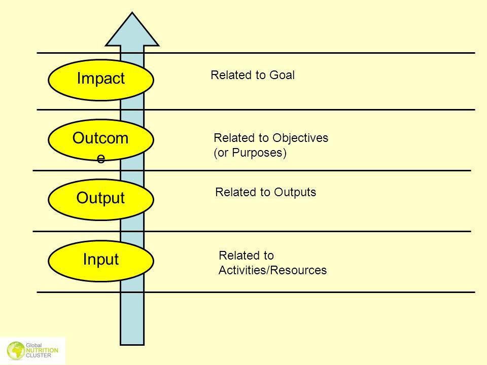 Impact Outcome Output Input Related to Goal