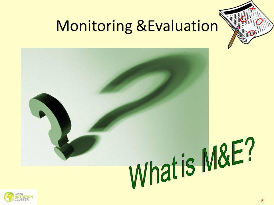 Monitoring &Evaluation