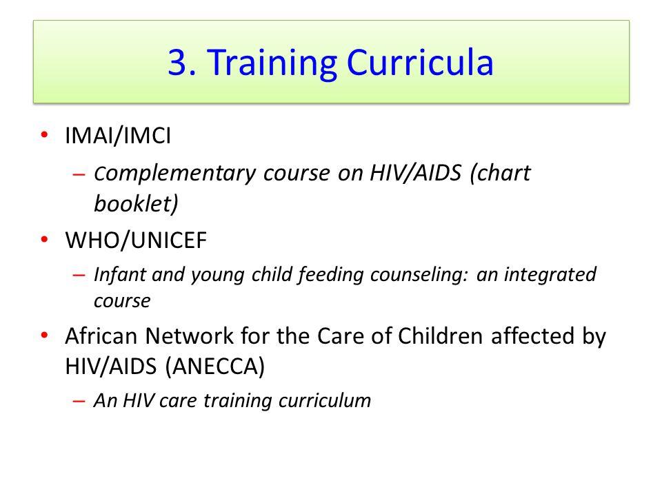 3. Training Curricula IMAI/IMCI WHO/UNICEF