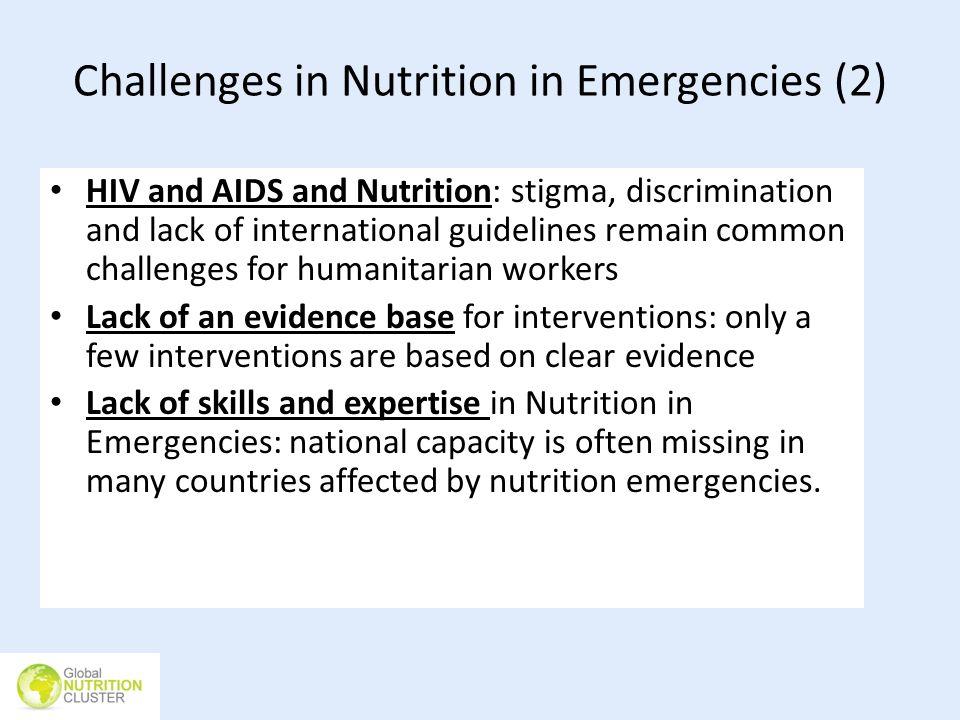 Challenges in Nutrition in Emergencies (2)