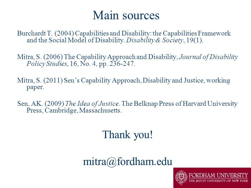 Main sources Thank you! mitra@fordham.edu