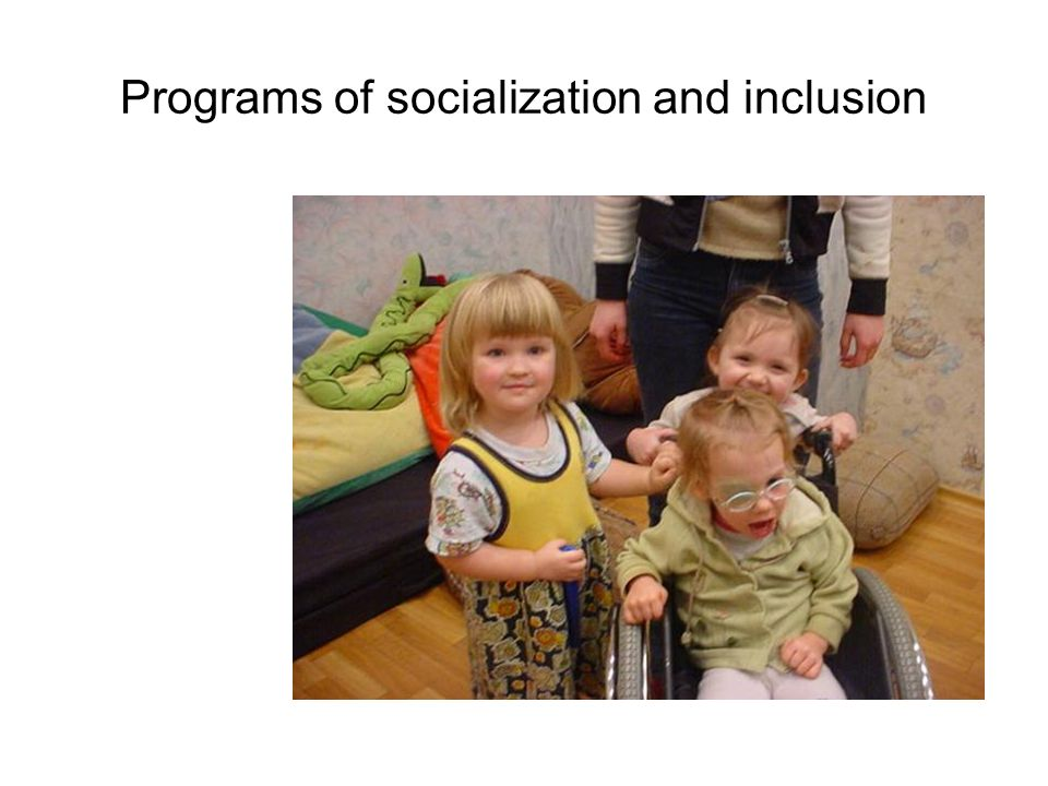 Programs of socialization and inclusion